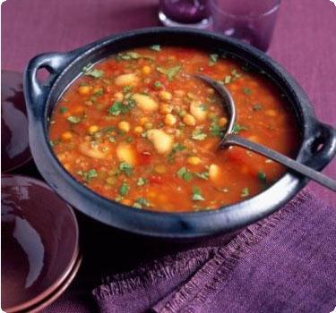 Рецепт фасолады - постного греческого супа с фасолью